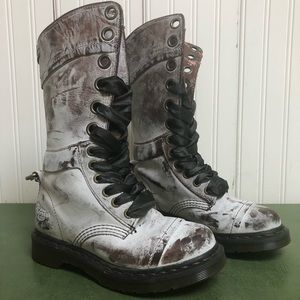 Dr Martens Triumph Powder Coated Fold Down Boots